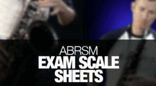 ABRSM saxophone exam scale sheet