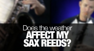 Does the weather affect saxophone reeds