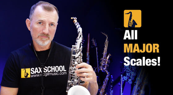 How to play all major scales on saxophone