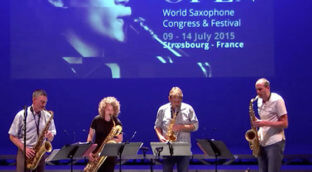 Itchy fingers playing sax during the World Saxophone Congress