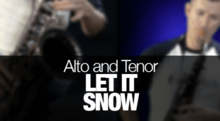 Learn how to play Let It Snow on saxophone