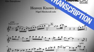 Heaven Knows Free sax transcription