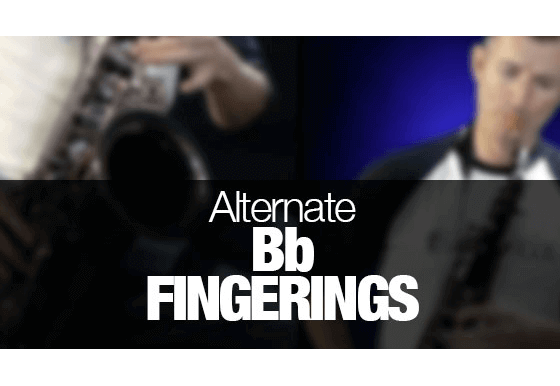 Alternate Bb fingerings for saxophone