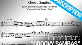 Free sax transcription of Groovy Sambas