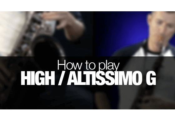 Learn how to play your first altissimo notes on saxophone