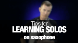 How to learn solos on saxophone