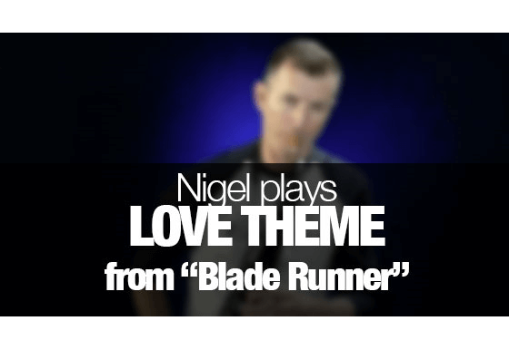 Love Theme from Blade Runner on Saxophone