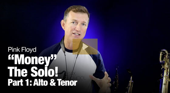 Learn the Money sax solo by Pink Floyd
