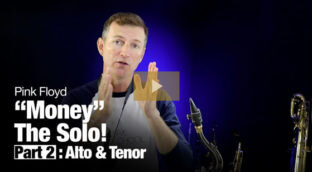 """Learn how to play the """"Money"""" solo on saxophone"""