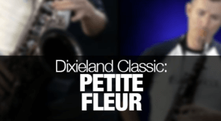 Dixieland classic Petite Fleur played on tenor sax