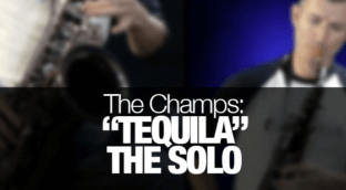 """Nigel McGill plays the """"Tequila"""" sax solo as recorded by The Champs"""