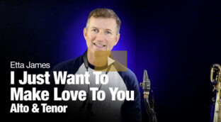I Just Want To Make Love To You - sax solo lesson