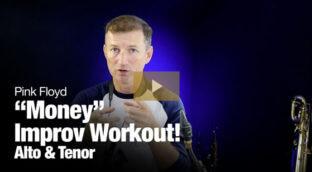 Money improvising workout for saxophone