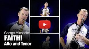 Faith in Alto and Tenor Saxophone Video