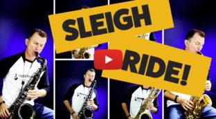 Sleigh Ride 5-saxophone jazz arrangement by Nigel McGill