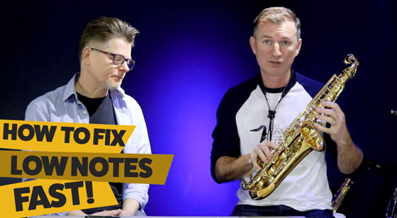 How to fix low notes on saxophone