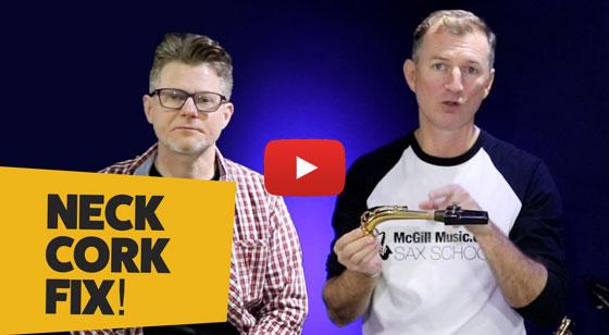 How to fix Saxophone Neck Cork