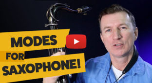 Jazz mode and how to use it on saxophone