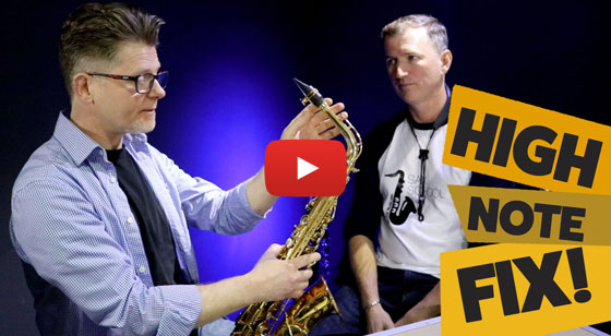 High Note fix on sax