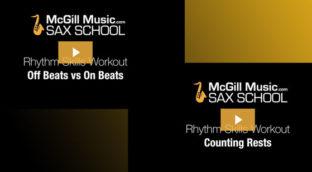 Sax School Rhythm skills Workout part 2