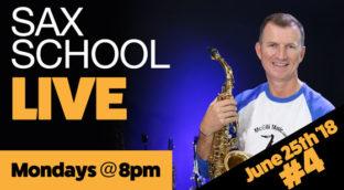 Saxophone live Moday 8pm