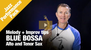 Jazz Performance Pack Blue Bossa in Alto and Tenor Sax