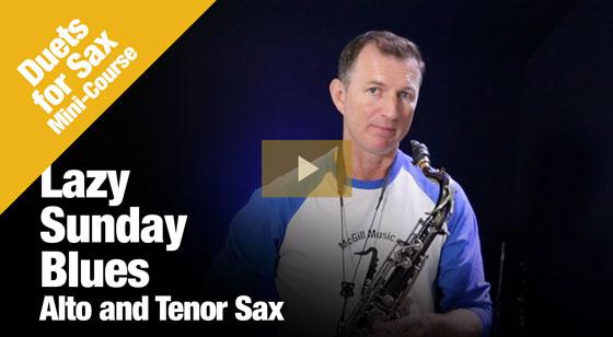 Lazy Sunday Blues on Alto and Tenor Saxophone