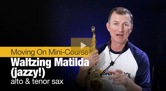 Waltzing Matilda in alto and tenor sax