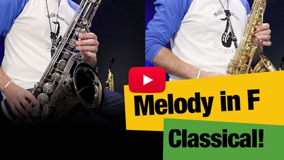 Melody in F classical sax demo