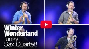 Winter Wonderland saxophone quartet