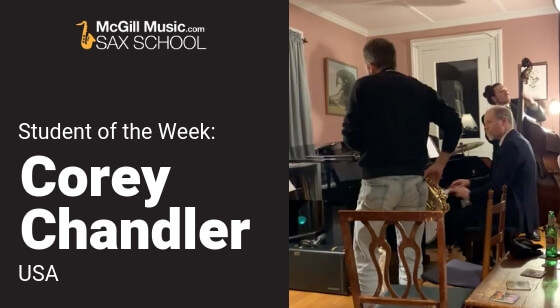 Student of the Week Corey Chandler
