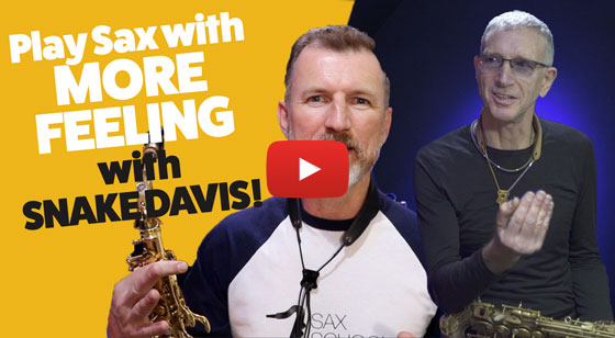 Play sax with more feelings
