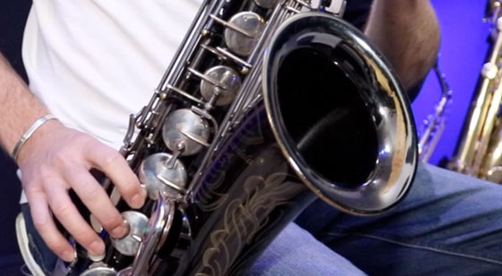 Playing classical music on saxophone