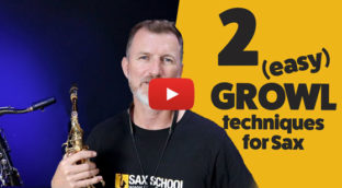 2 easy Growl Techniques for saxophone