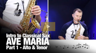 Ave Maria part 1 on alto and tenor