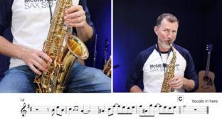 Nigel McGill playing alto sax