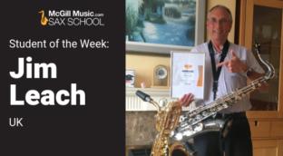 Jim Leach is Sax School Student of the Week