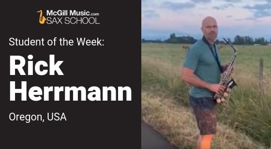 Sax School Student Rick Herrmann