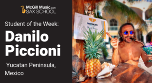 Danilo Piccioni learns sax in a remote location with online lessons from Sax School