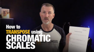 How to transpose using chromatic scales