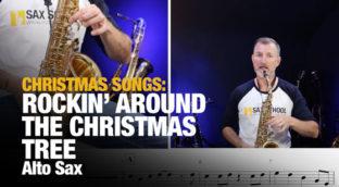 Rockin' Around the Christmas Tree on alto sax