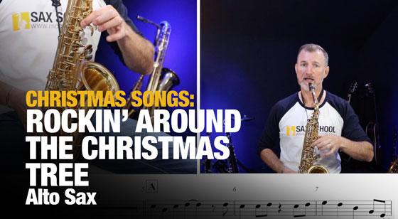 Rockin around the Christmas Tree Alto Saxophone Lesson