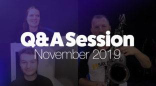 McGill Music Sax School November 2019 Q and A