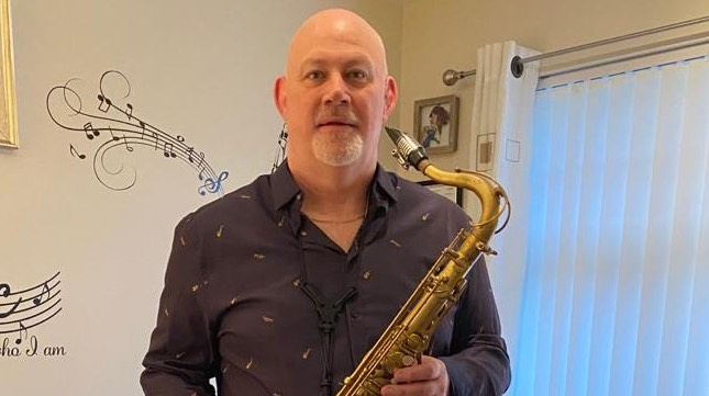 Watson Fraser adult saxophone learner with Sax School online saxophone lessons.