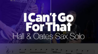I Can't Go For That sax solo