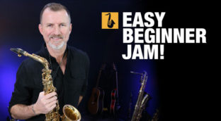Easy saxophone jam lesson for beginners