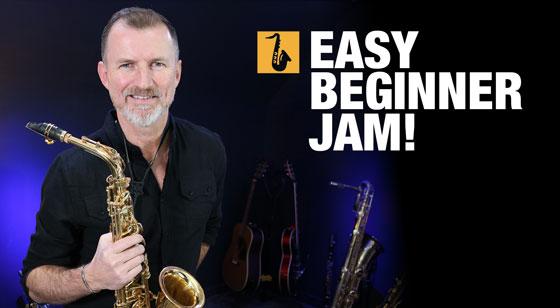 Easy saxophone jam lesson for beginners