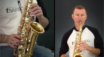 Nigel McGill playing sax