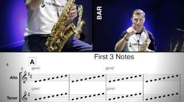 Bye Bye blackbird Saxophone notes