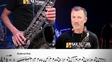 Playing easy pop tunes on sax
